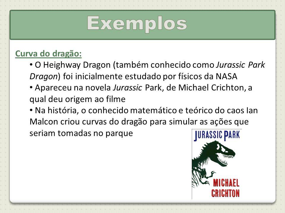 Curva do dragão: O Heighway Dragon (também conhecido como Jurassic Park Dragon) foi inicialmente estudado por físicos da NASA Apareceu na novela Juras