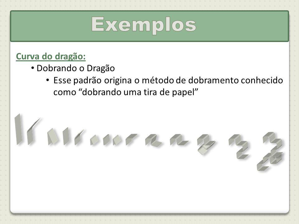 Curva do dragão: Dobrando o Dragão Esse padrão origina o método de dobramento conhecido como dobrando uma tira de papel