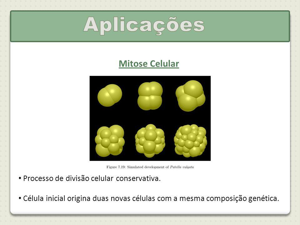 Mitose Celular Processo de divisão celular conservativa. Célula inicial origina duas novas células com a mesma composição genética.