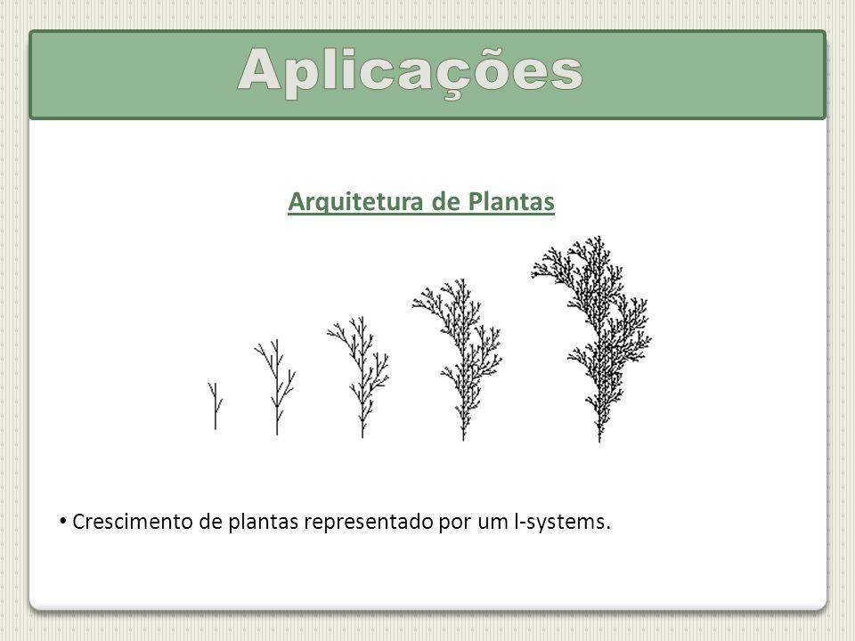 Arquitetura de Plantas Crescimento de plantas representado por um l-systems.