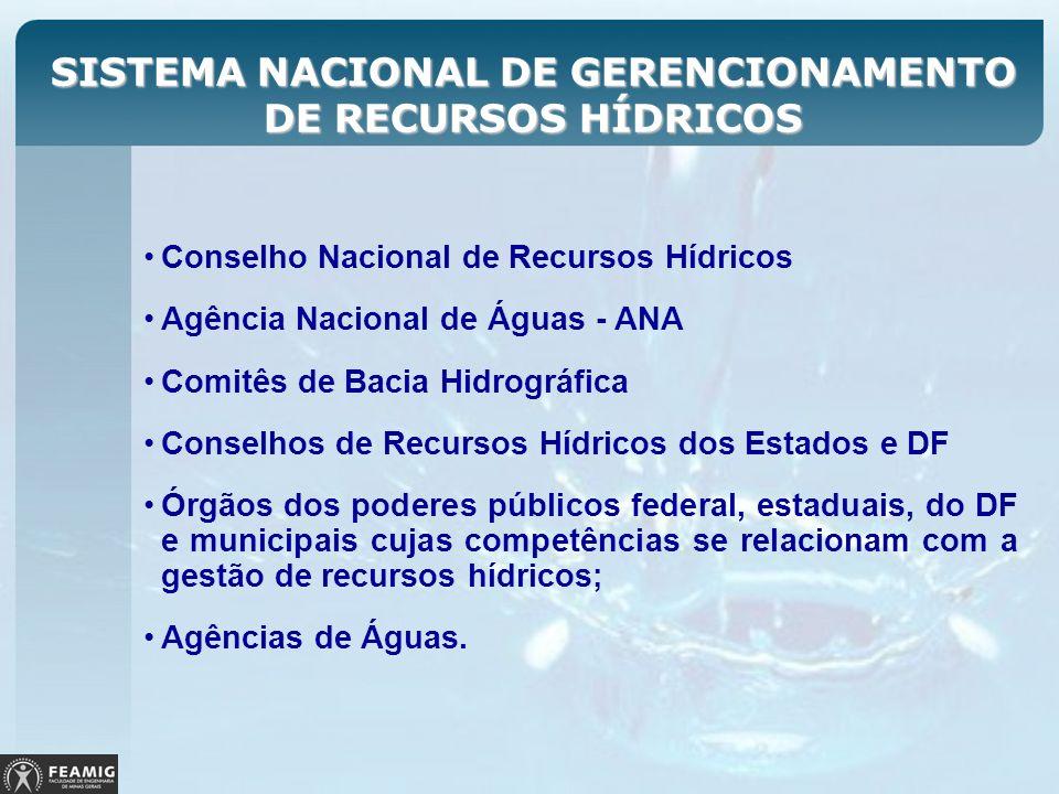 SISTEMA NACIONAL DE GERENCIONAMENTO DE RECURSOS HÍDRICOS Conselho Nacional de Recursos Hídricos Agência Nacional de Águas - ANA Comitês de Bacia Hidro