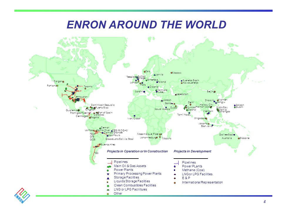 Enron is one of the leading energy companies operating in South America, mainly in natural gas.