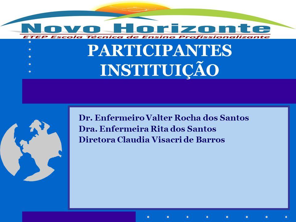 PARTICIPANTES INSTITUIÇÃO Dr. Enfermeiro Valter Rocha dos Santos Dra. Enfermeira Rita dos Santos Diretora Claudia Visacri de Barros