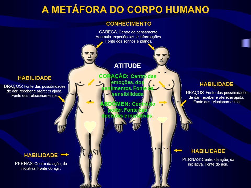 A METÁFORA DO CORPO HUMANO CONHECIMENTO CABEÇA: Centro do pensamento.