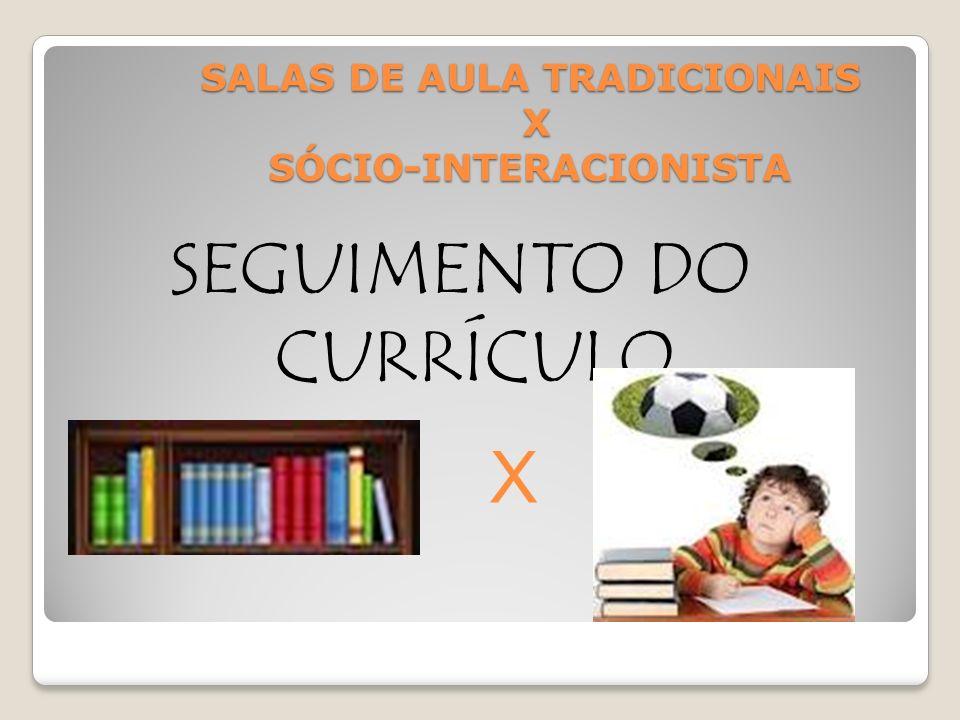 SALAS DE AULA TRADICIONAIS X SÓCIO-INTERACIONISTA ATIVIDADES X