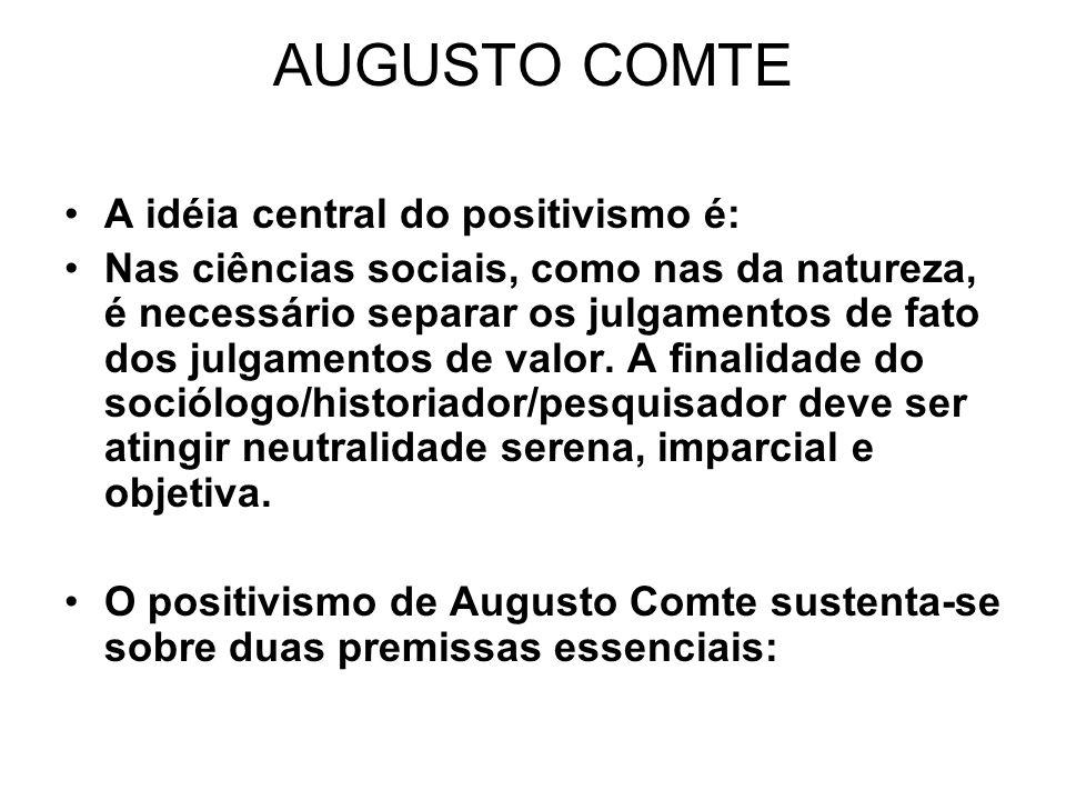 Positivismo X Marxismo O fato social isolado como verdade.