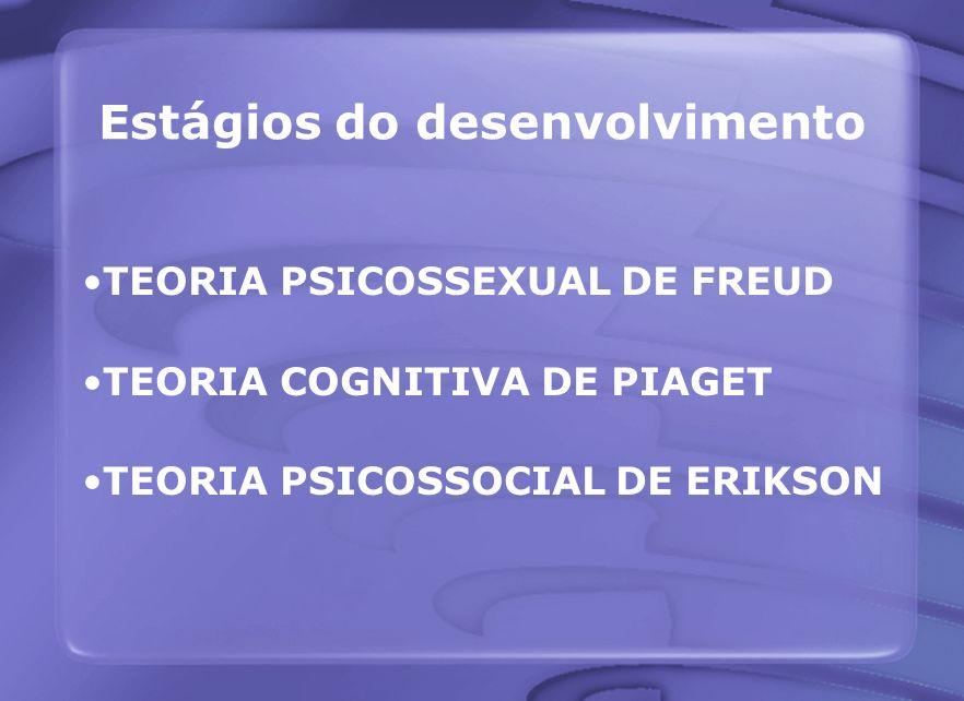 Teoria psicossexual de Freud A personalidade forma-se nos primeiros anos de vida No desenvolvimento psicossexual o prazer muda de uma zona física para outra
