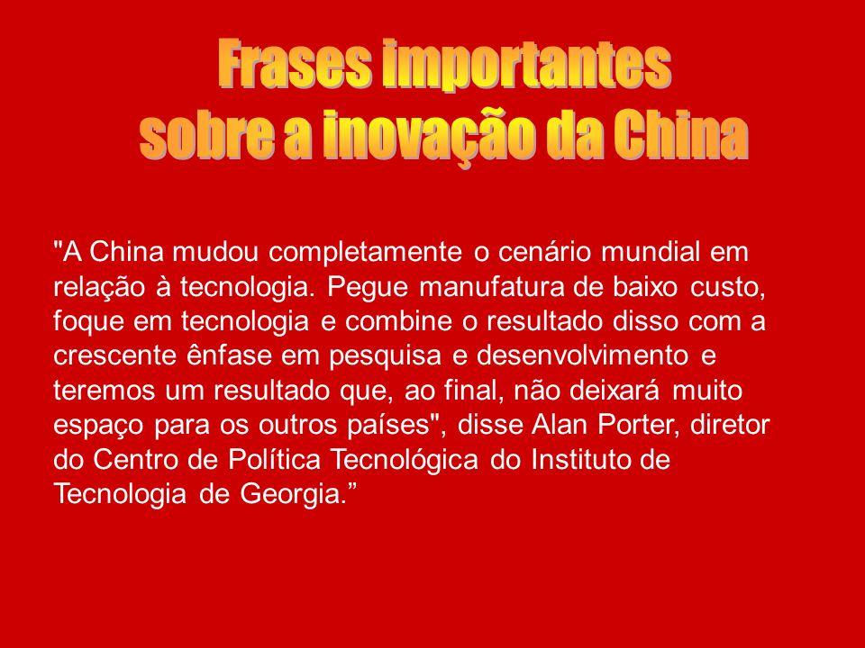 - China conta com ricos recursos intelectuais de sua população. -Pesquisas indicam que a China ultrapassará em breve os Estados Unidos.