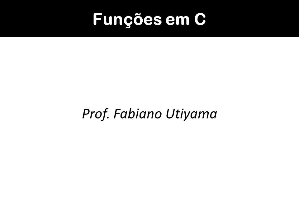 Exemplo: função para calcular o fatorial de um número inteiro; #include int fatorial (int num); main() { int i, n, p; float combinacao; printf ( Digite um valor para n: ); scanf ( %d ,&n); printf ( Digite um valor para p: ); scanf ( %d ,&p); combinacao=fatorial(n)/(fatorial(p)*fatorial(n-p)); printf ( \n\nValor da combinacao: %f\n\n , combinacao); system ( PAUSE ); }...