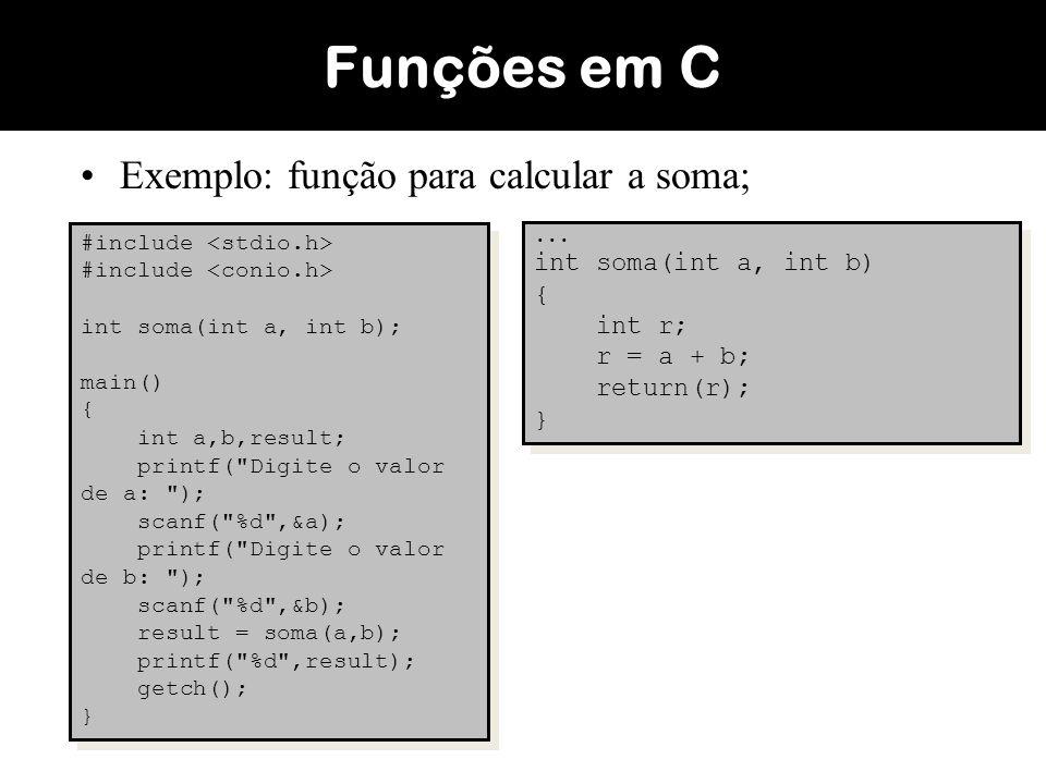 Outro exemplo de aplicação: Fazer um algoritmo para calcular a combinação (análise combinatória) de N elementos tomados P a P.