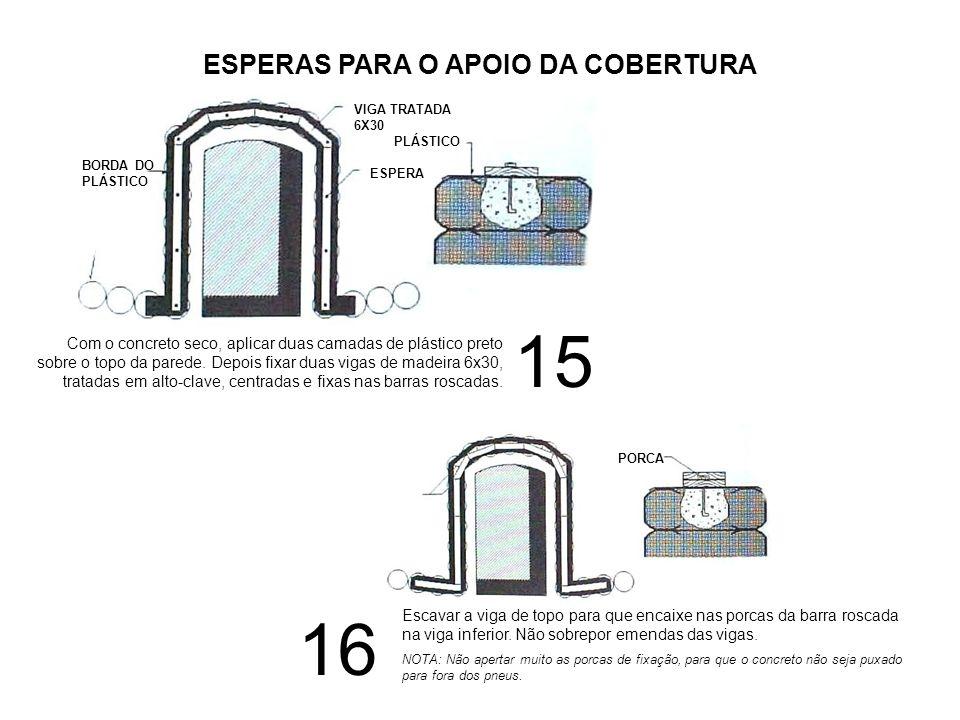 17 É necessário calçar as vigas da cobertura para o caimento da água de 5%, usando-se vigas 20X20.