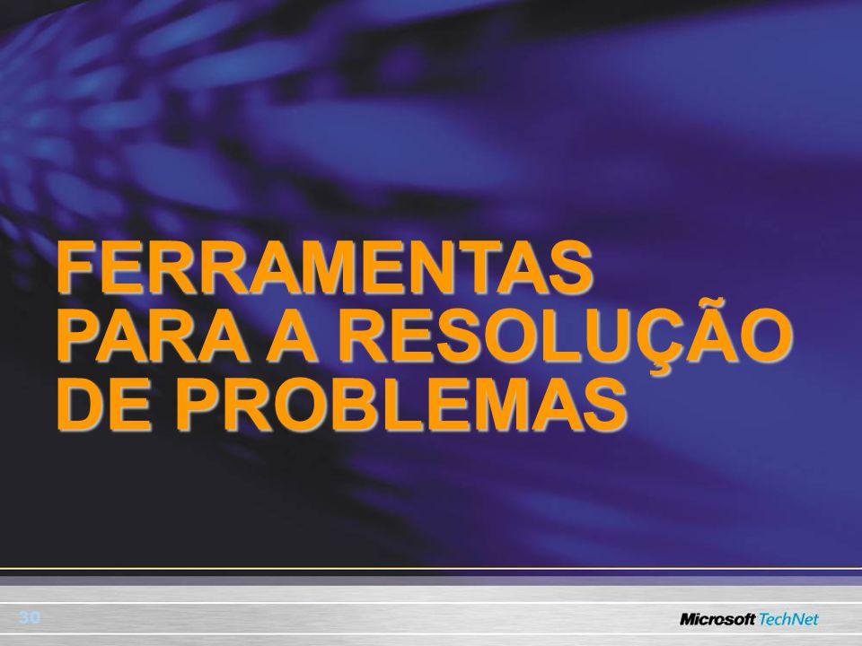 30 FERRAMENTAS PARA A RESOLUÇÃO DE PROBLEMAS