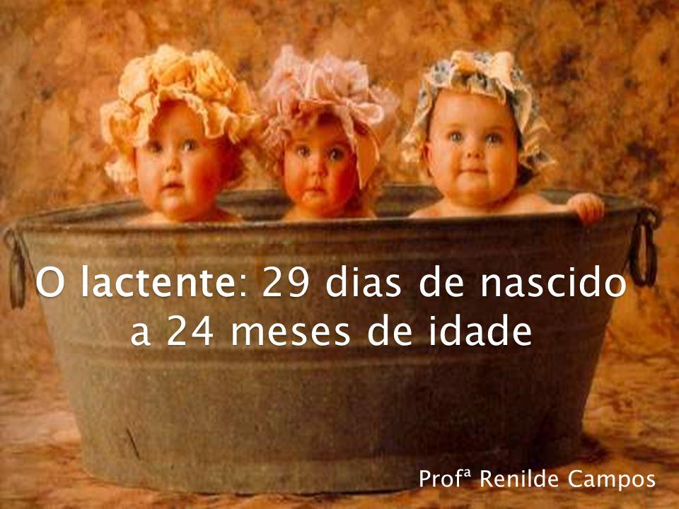 O lactente: 29 dias de nascido a 24 meses de idade Profª Renilde Campos