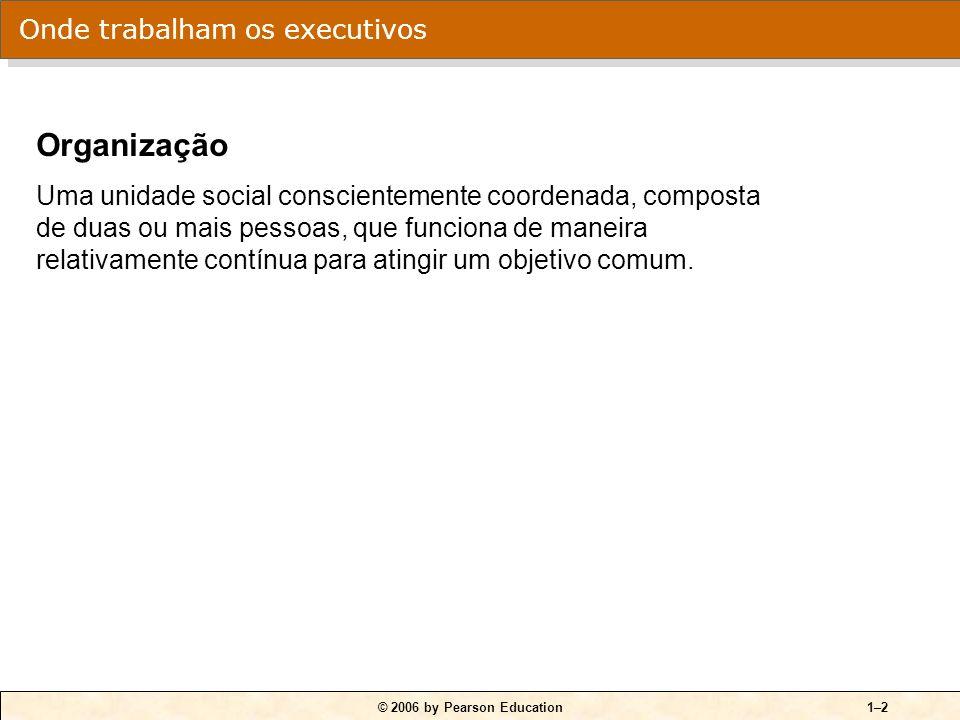 © 2006 by Pearson Education1–1 O QUE FAZEM OS EXECUTIVOS Atividades dos executivos: Tomar decisões.
