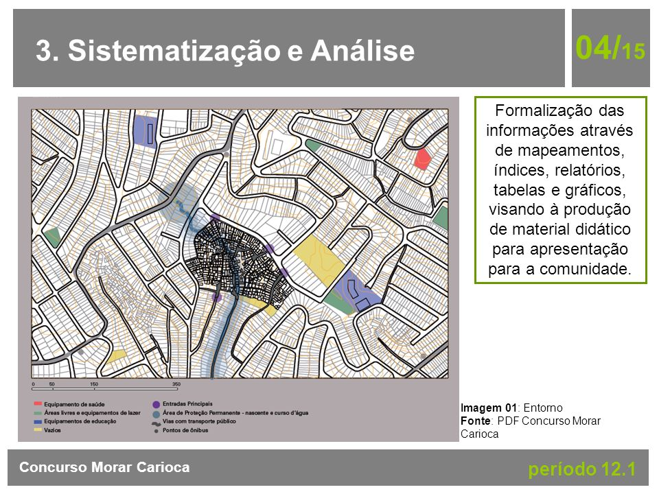 3. Sistematização e Análise 04/ 15 Concurso Morar Carioca período 12.1 Imagem 01: Entorno Fonte: PDF Concurso Morar Carioca Formalização das informaçõ