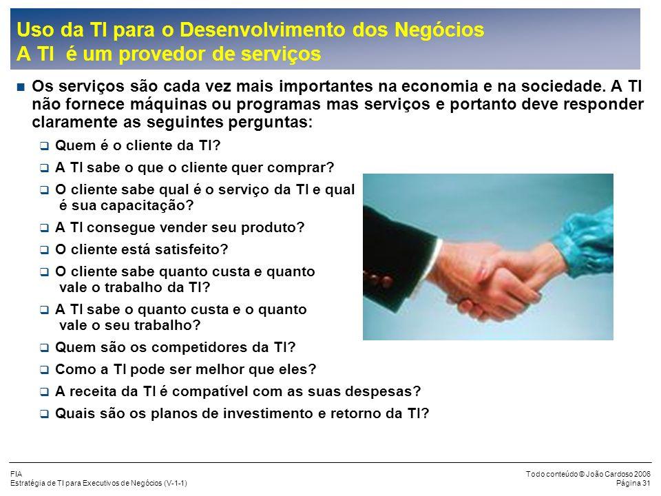 joao.cardoso@portusconsultoria.com.br Uso da TI para o Desenvolvimento dos Negócios