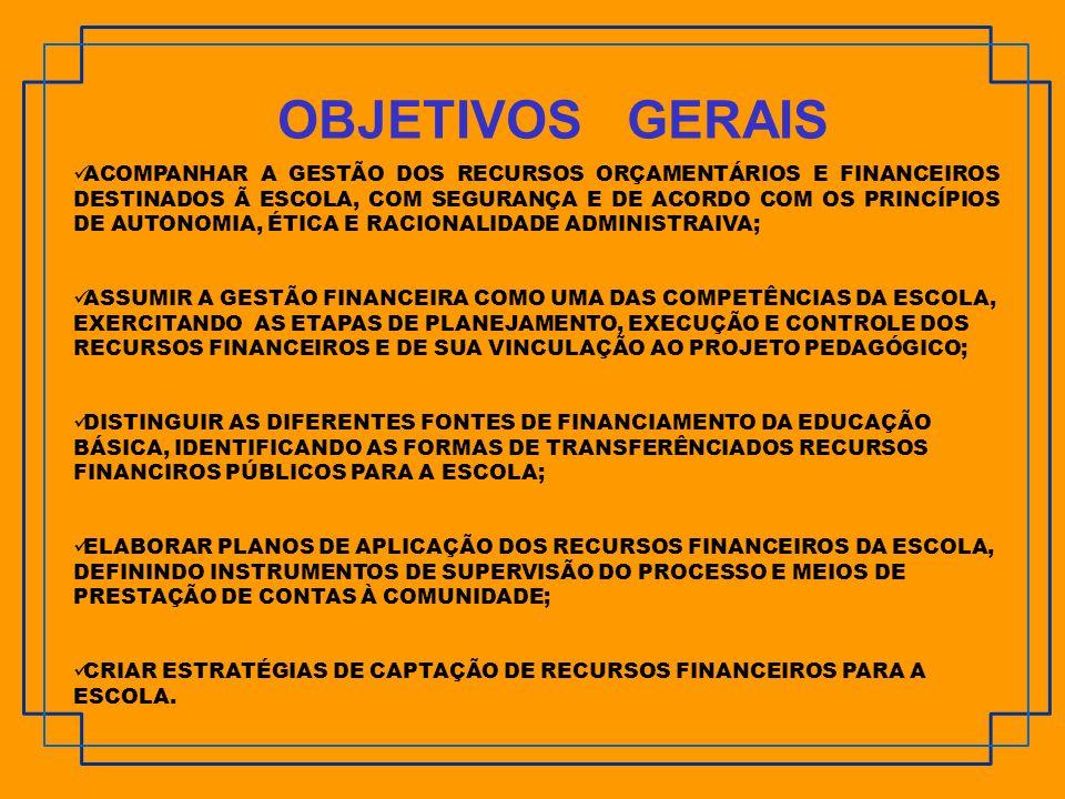IDENTIFICAR FONTES ALTERNATIVAS DE RECURSOS FINANCEIROS; DESENVOLVER FORMAS DE CAPTAR RECURSOS FINANCEIROS PARA A ESCOLA.
