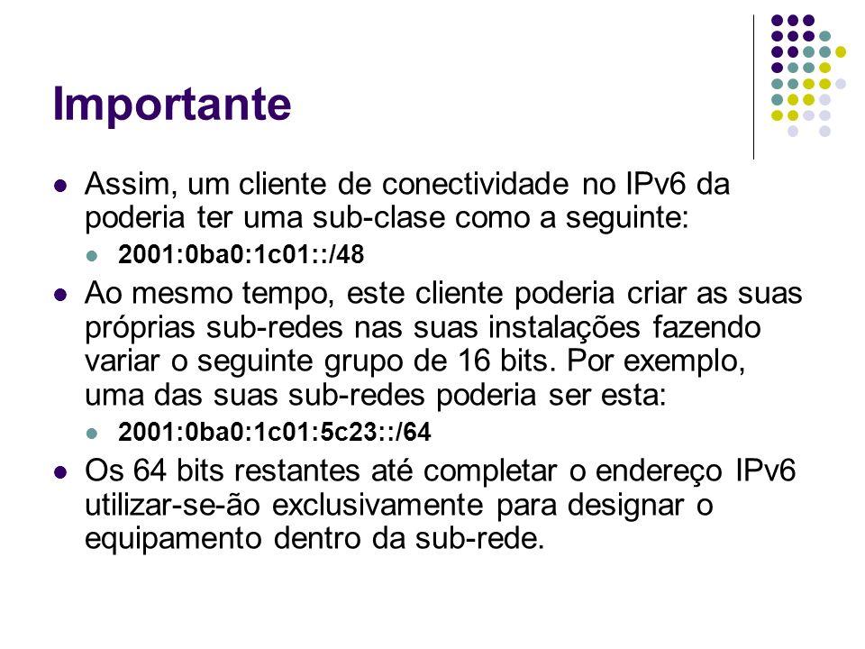 Tipos de Endereços IPv6