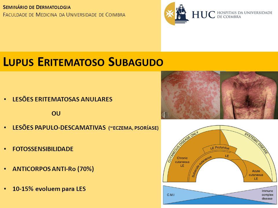 S EMINÁRIO DE D ERMATOLOGIA F ACULDADE DE M EDICINA DA U NIVERSIDADE DE C OIMBRA S ÍFILIS S ECUNDÁRIA SÍFILIS SCREENING POSITIVO R PR : 1/160 M ARIDO : RPR : 1/128; HIV +
