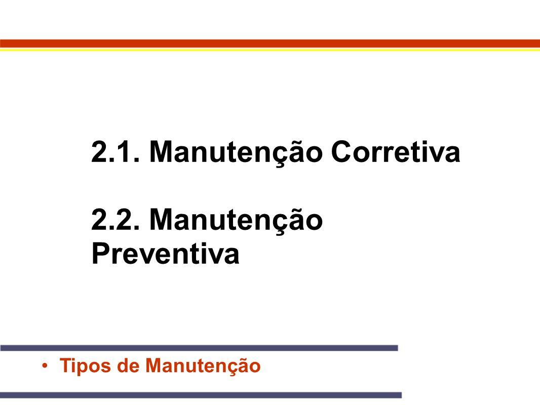 Tipos de Manutenção 2.1. Manutenção Corretiva 2.2. Manutenção Preventiva