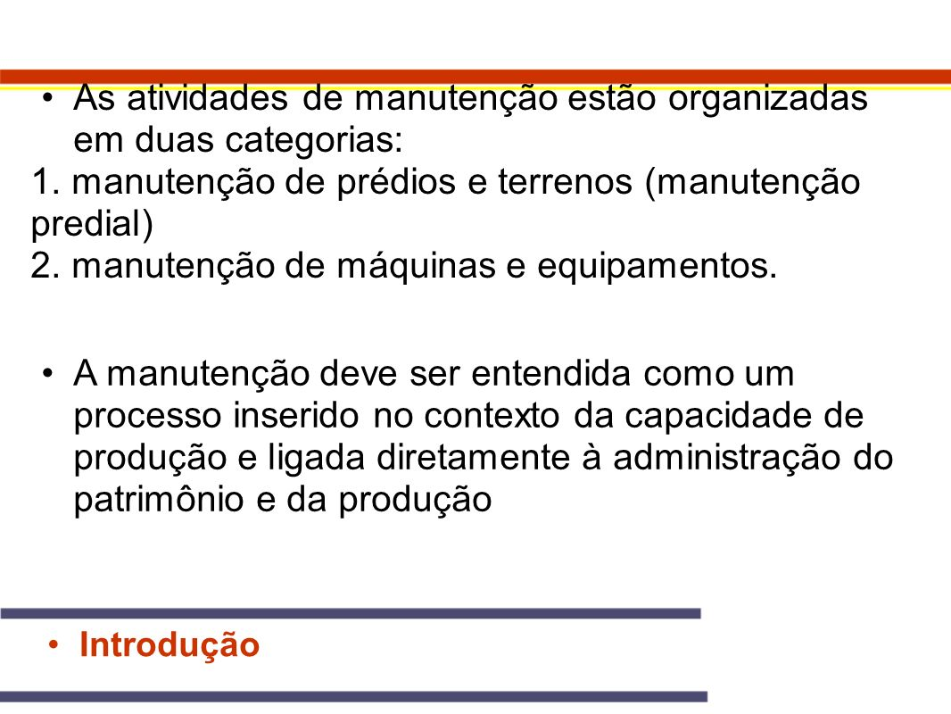 Tipos de Manutenção 2.1.