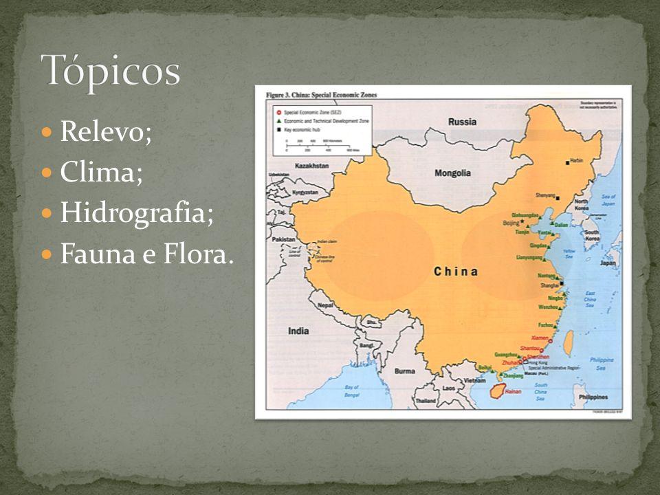 China é também um país de grandes montanhas, zonas montanhosas, planícies e colinas ocupam o 65% da superfície continental.