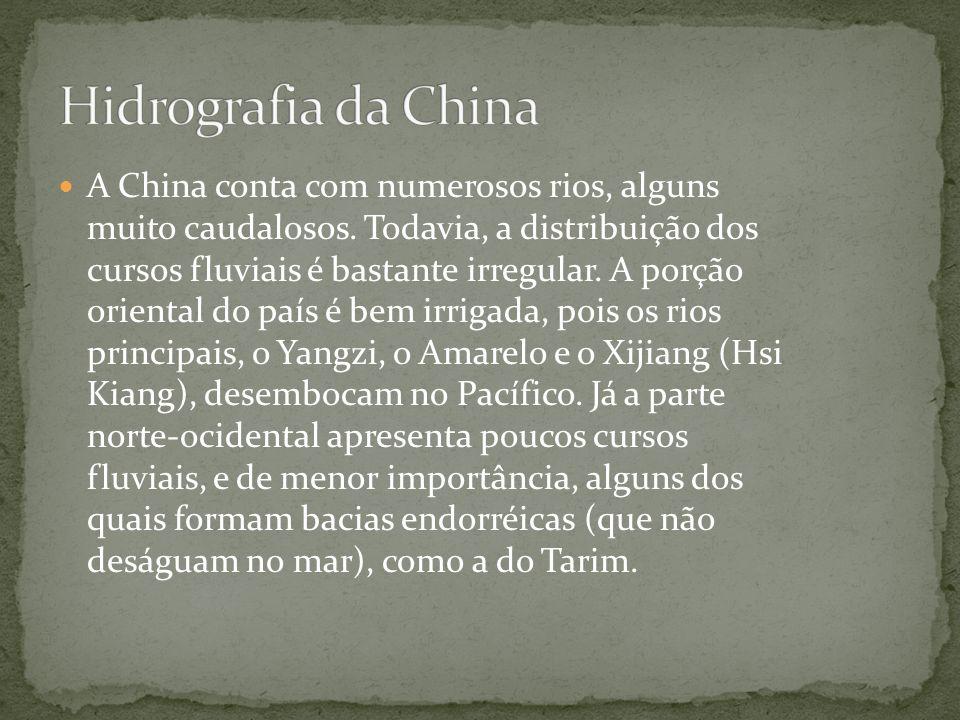 A China também contém uma variedade de tipos de floresta.