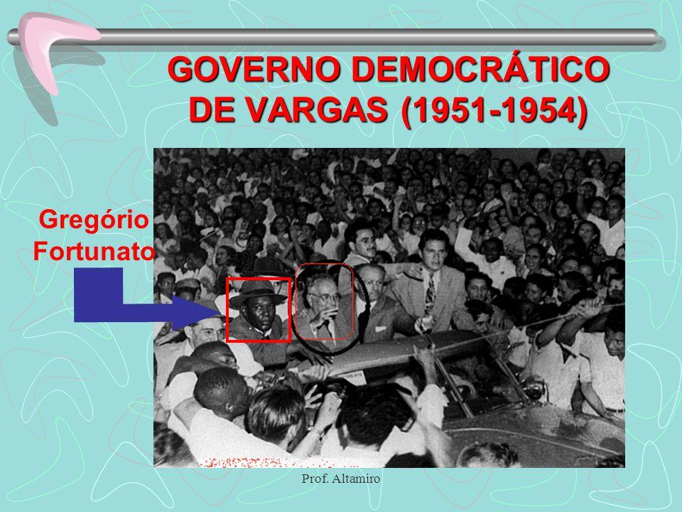 Prof. Altamiro GOVERNO DEMOCRÁTICO DE VARGAS (1951-1954) Gregório Fortunato