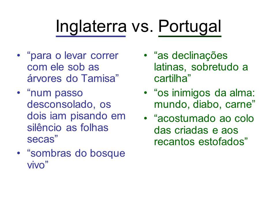 Inglaterra vs. Portugal para o levar correr com ele sob as árvores do Tamisa num passo desconsolado, os dois iam pisando em silêncio as folhas secas s