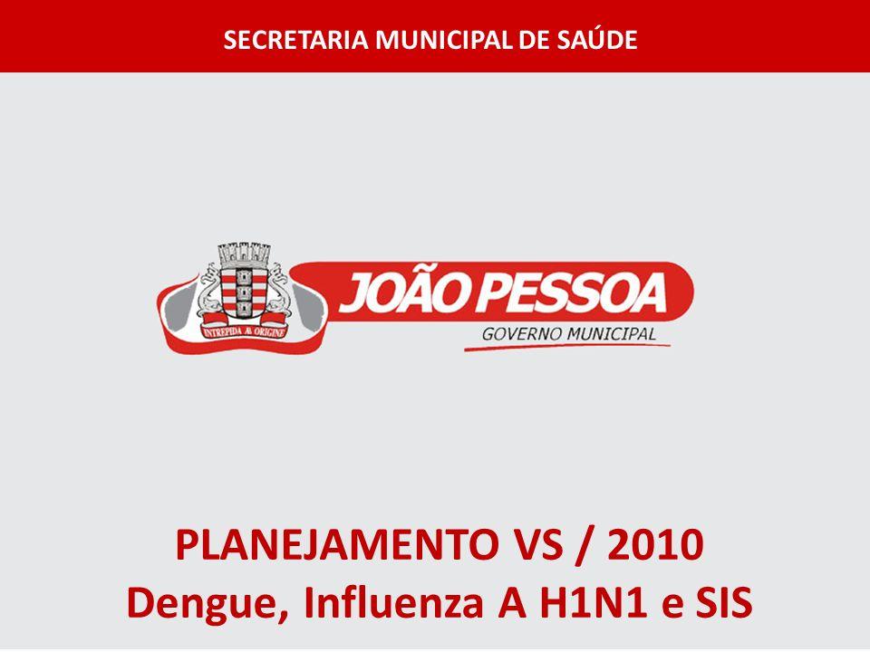 PLANEJAMENTO VS / 2010 Dengue, Influenza A H1N1 e SIS SECRETARIA MUNICIPAL DE SAÚDE
