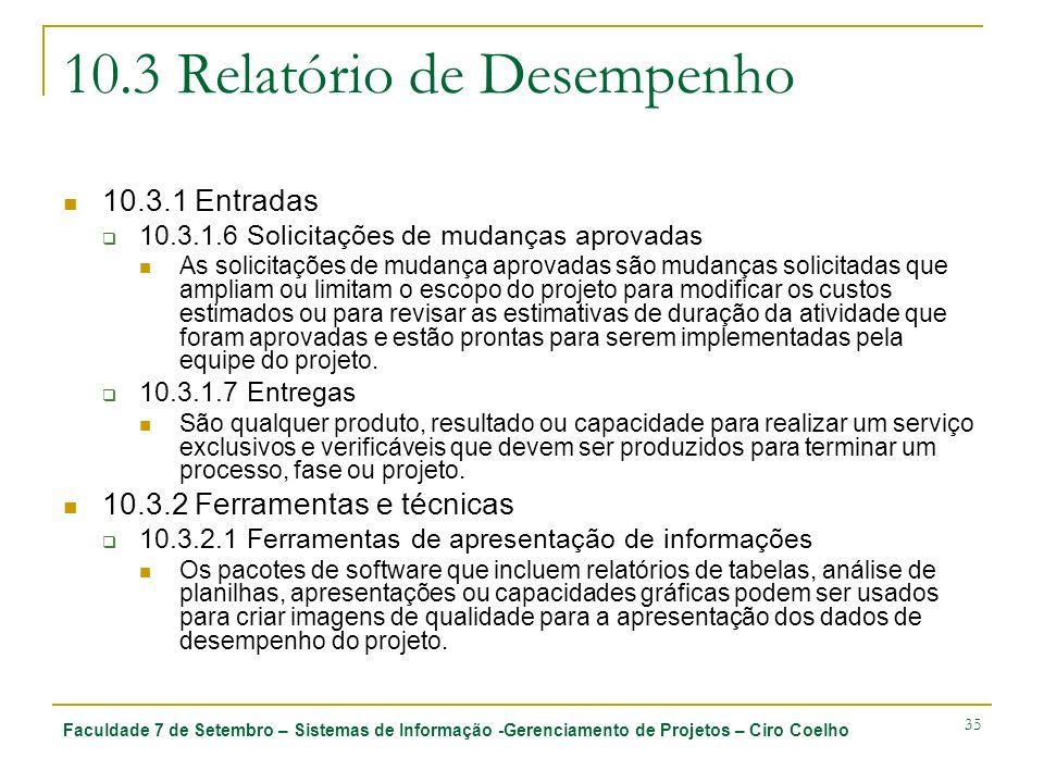 Faculdade 7 de Setembro – Sistemas de Informação -Gerenciamento de Projetos – Ciro Coelho 35 10.3 Relatório de Desempenho 10.3.1 Entradas 10.3.1.6 Sol