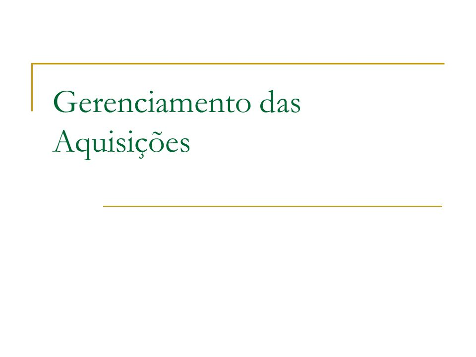 Faculdade 7 de Setembro – Sistemas de Informação -Gerenciamento de Projetos – Ciro Coelho 2 Introdução O gerenciamento de aquisições do projeto inclui os processos de gerenciamento de contratos e de controle de mudanças necessários para administrar os contratos ou pedidos de compra emitidos por membros da equipe do projeto autorizados.