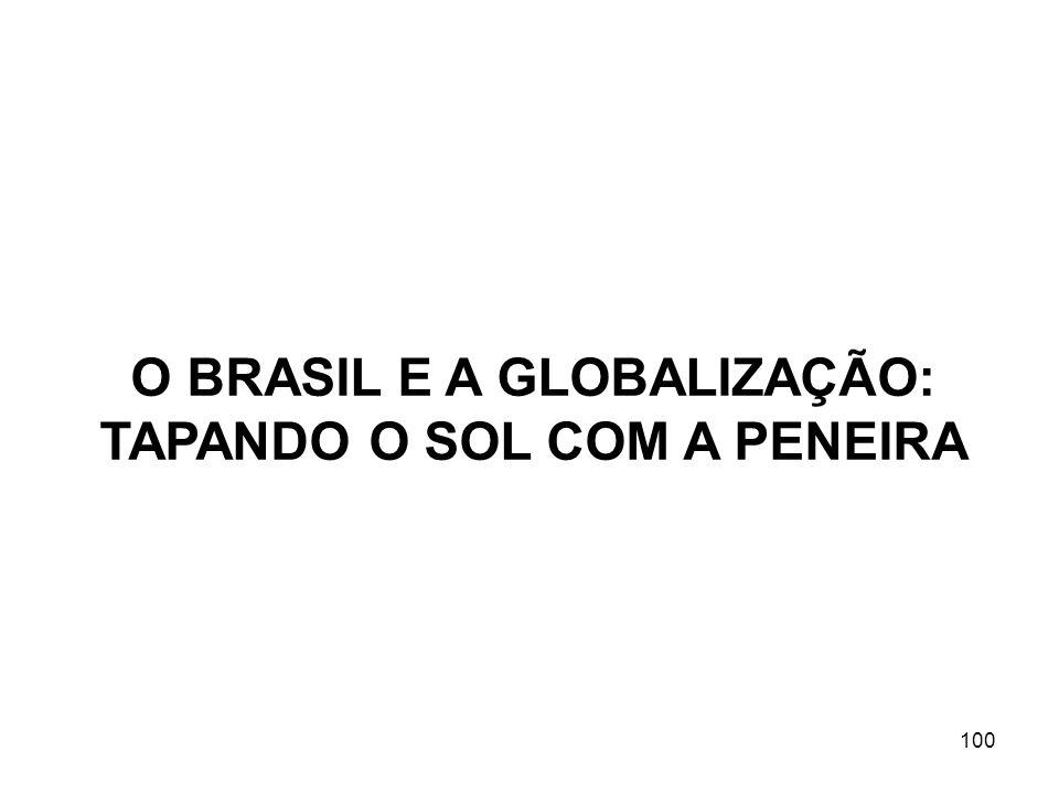 100 O BRASIL E A GLOBALIZAÇÃO: TAPANDO O SOL COM A PENEIRA