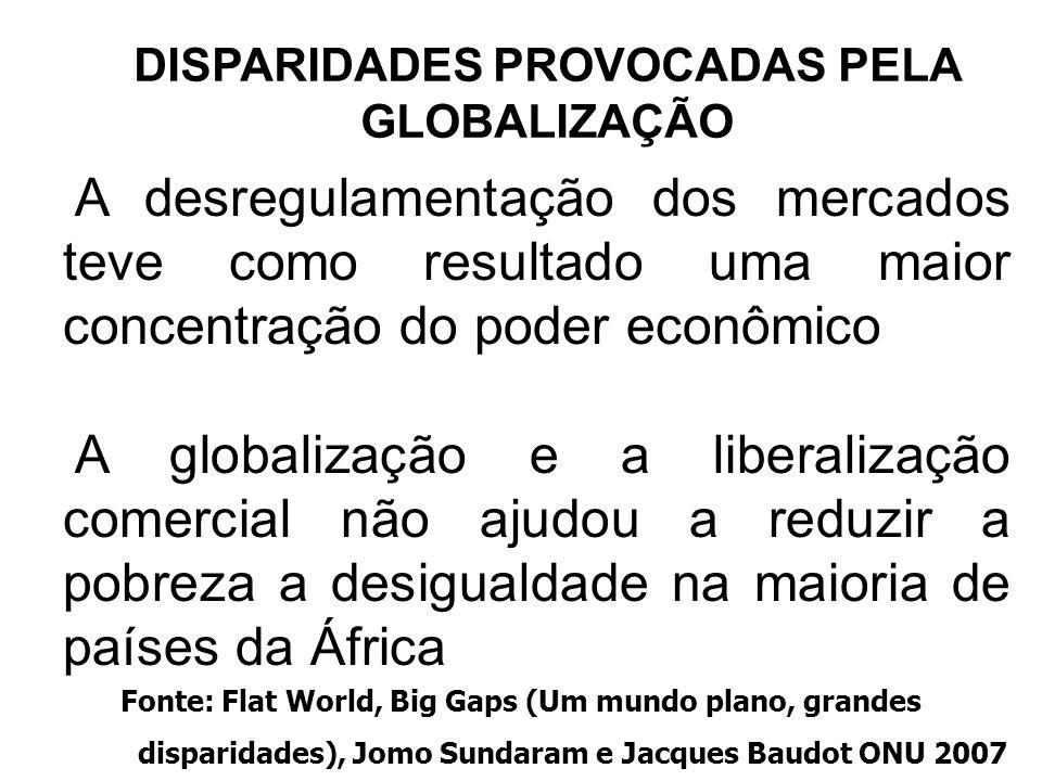 40 A desregulamentação dos mercados teve como resultado uma maior concentração do poder econômico A globalização e a liberalização comercial não ajudo