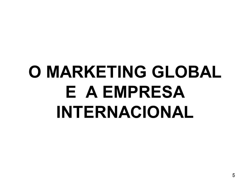 5 O MARKETING GLOBAL E A EMPRESA INTERNACIONAL