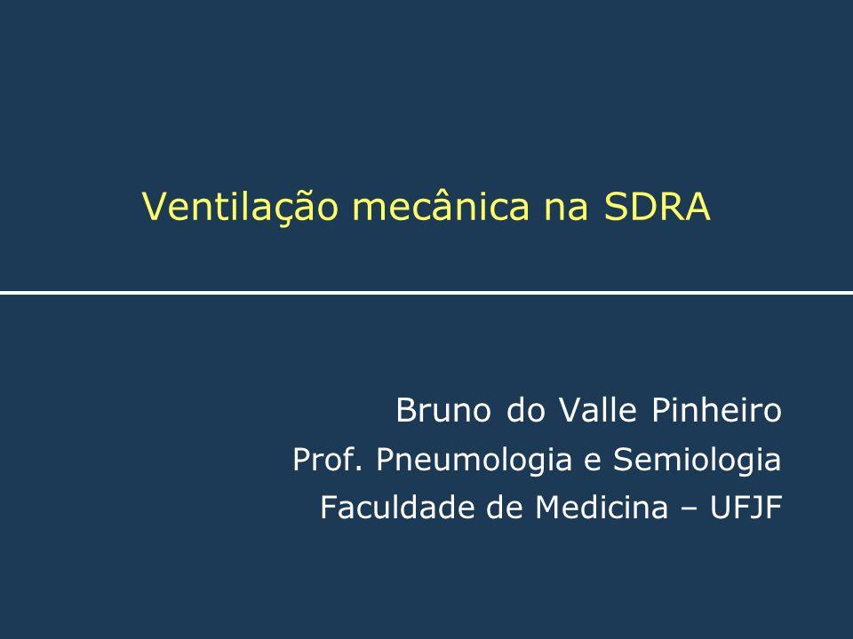 Ventilação mecânica na SDRA Bruno do Valle Pinheiro Prof. Pneumologia e Semiologia Faculdade de Medicina – UFJF