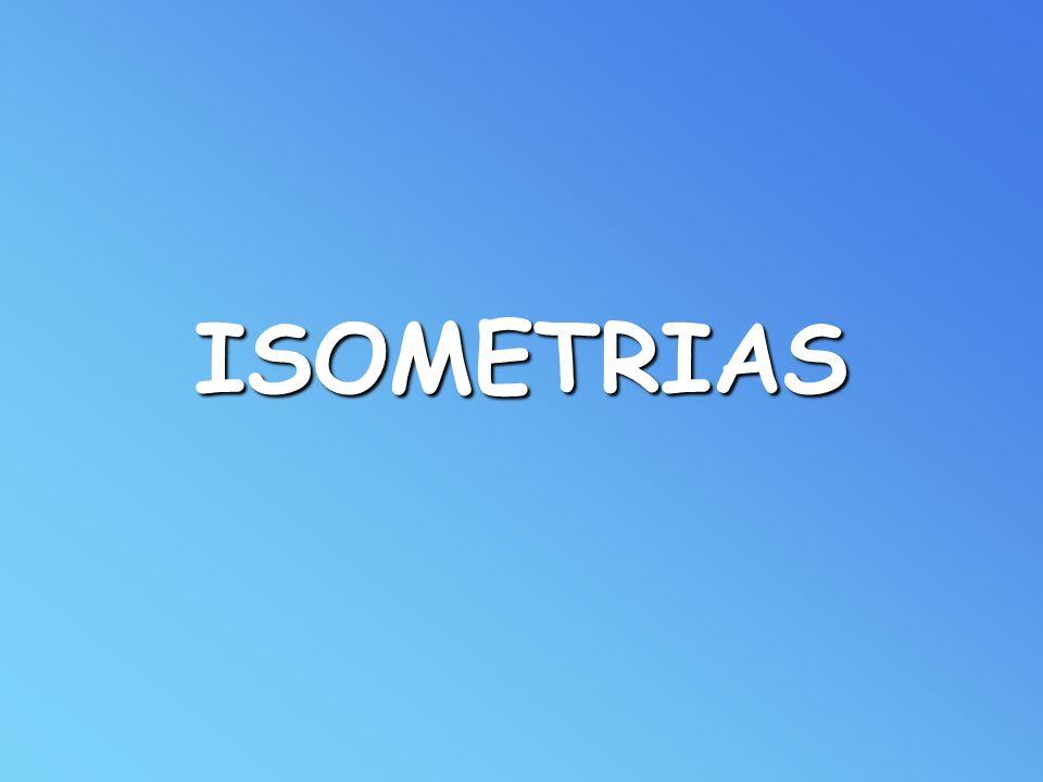 Classificação das isometrias: - invertem o sentido dos ângulos orientados.