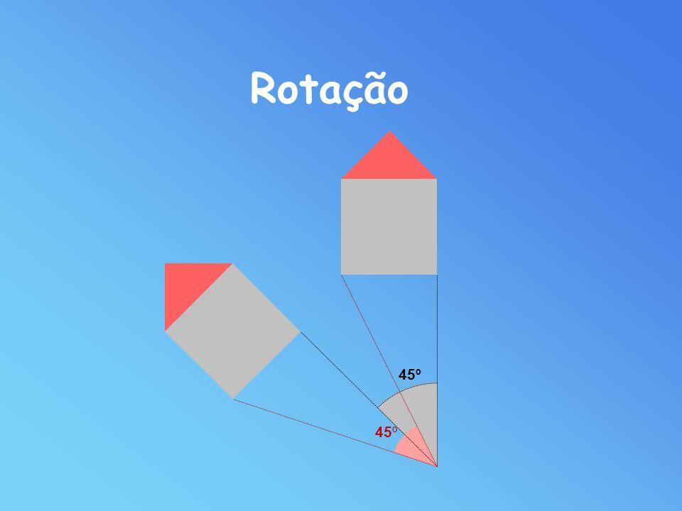 Rotação de centro O e amplitude -R(O, )- é a aplicação que ao ponto O faz corresponder o próprio O e a cada ponto A da figura inicial faz corresponder