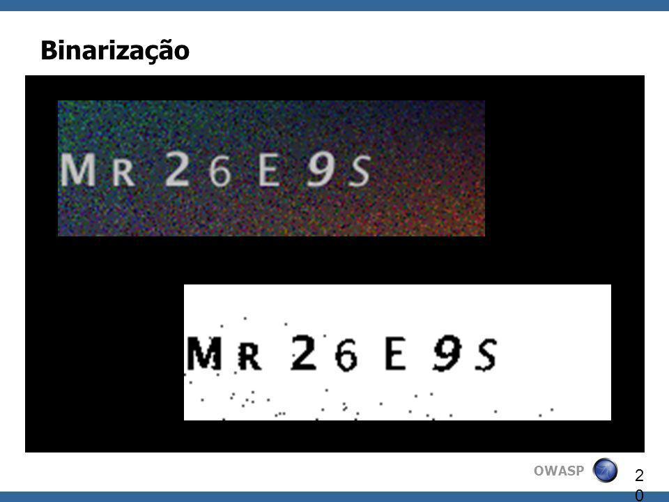 OWASP 20 Binarização