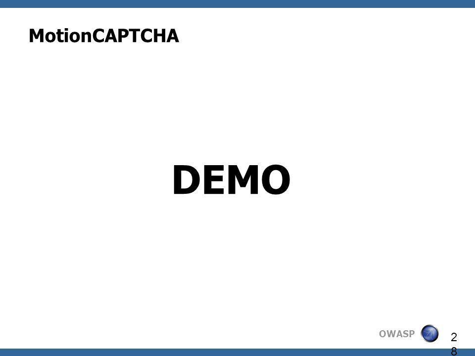 OWASP 28 MotionCAPTCHA DEMO