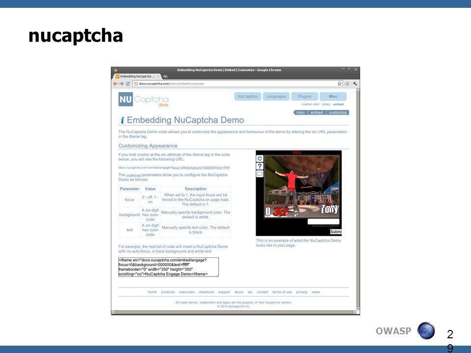 OWASP 29 nucaptcha