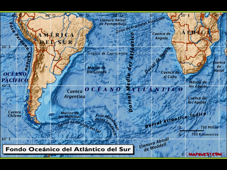 Topografia do Atlântico Norte