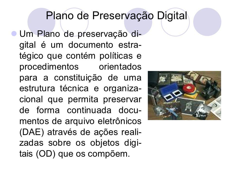 A preservação digital implica custos significati- vos que devem ser analisados e previstos pela Organização através do reforço orçamental, considerado adequado à situação diagnosticada aquando da elaboração do Plano de Preservação Digital.