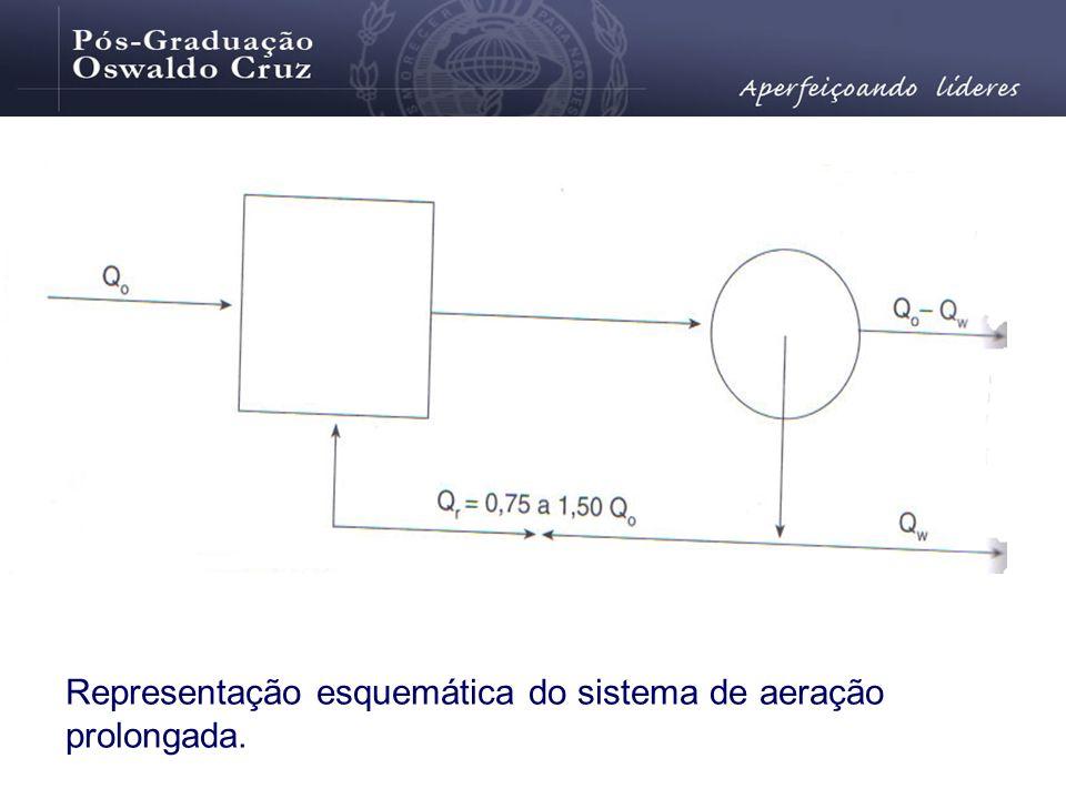Representação esquemática do sistema de aeração prolongada.