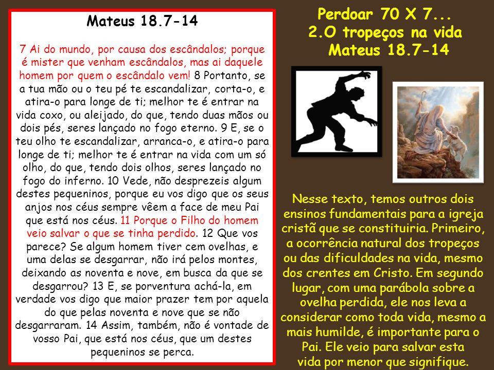 Mateus 18.7-14 7 Ai do mundo, por causa dos escândalos; porque é mister que venham escândalos, mas ai daquele homem por quem o escândalo vem! 8 Portan