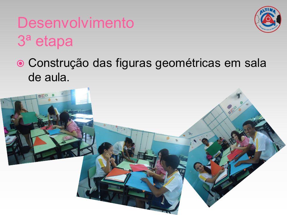Construção das figuras geométricas em sala de aula.