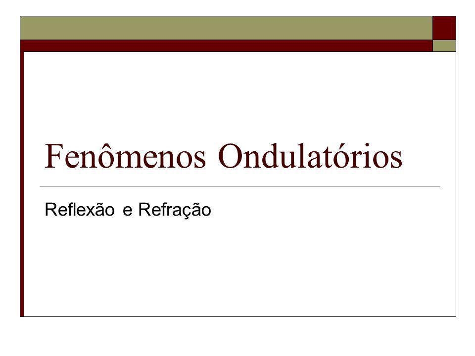 Fenômenos Ondulatórios Reflexão e Refração