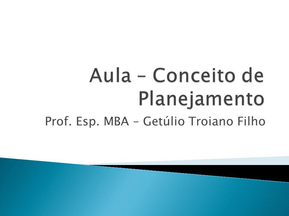 Prof. Esp. MBA – Getúlio Troiano Filho