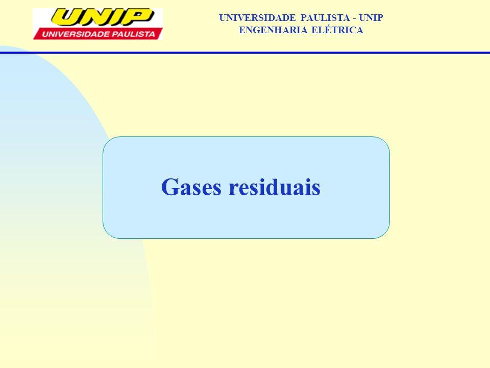 Gases residuais UNIVERSIDADE PAULISTA - UNIP ENGENHARIA ELÉTRICA