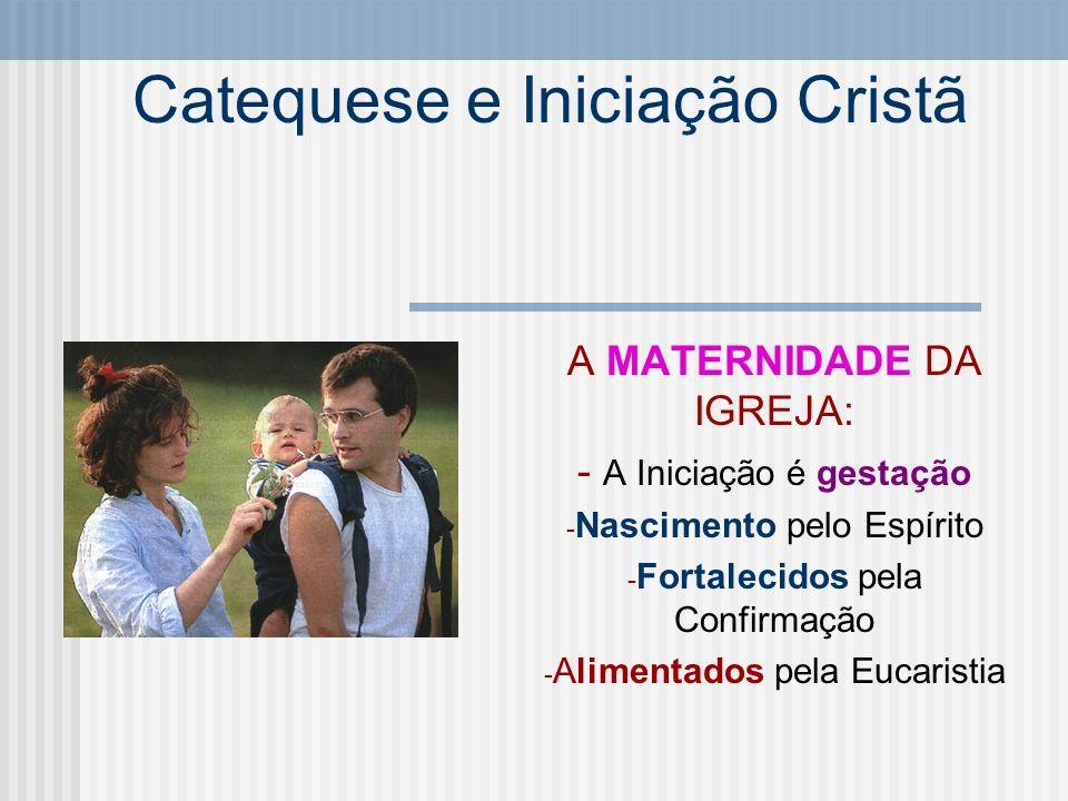 Catequese e Iniciação Cristã A Catequese de Iniciação - A catequese ligada à Iniciação Cristã - Forma o cristão - Elemento da iniciação - Ao serviço da Iniciação